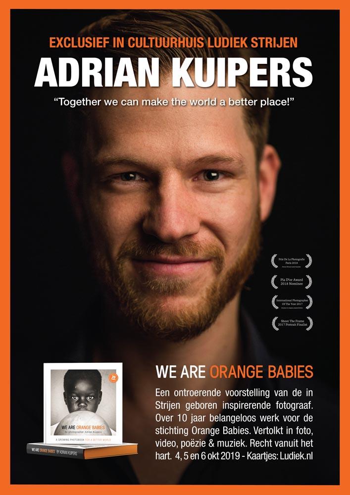 Adrian Kuipers - We Are Orange Babies - Ludiek - Poster (July 2019)